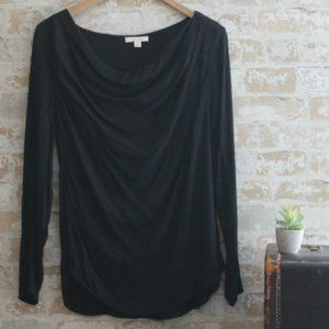 Anthro Ella Moss Drapey Front Top Size S